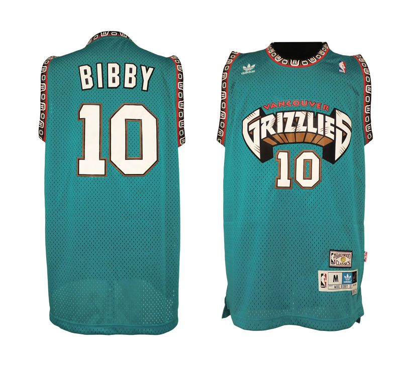 NBA Memphis Grizzlies 10 Mike Bibby Hardwood Classics Swingman Jersey