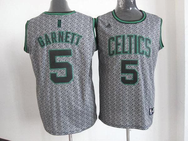 NBA Boston Celtics 5 Kevin Garnett 2013 new Static Fashion Swingman Jersey Limited Edition