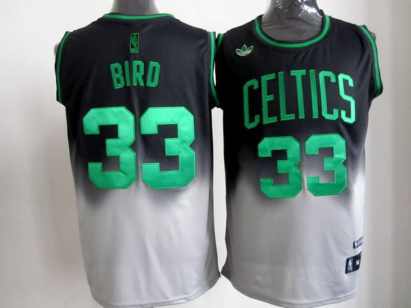 NBA Boston Celtics 33 Larry Bird 2013 new black grey jersey
