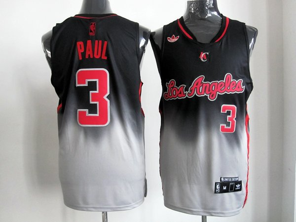 NBA Los Angeles Clippers 3 Chris Paul 2013 new black grey jersey