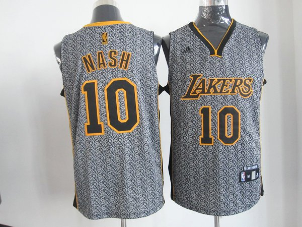 NBA Los Angeles Lakers 10 Nash 2013 new Static Fashion Swingman Jersey Limited Edition