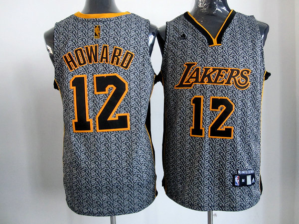 NBA Los Angeles Lakers 12 Dwight Howard 2013 new Static Fashion Swingman Jersey Limited Edition