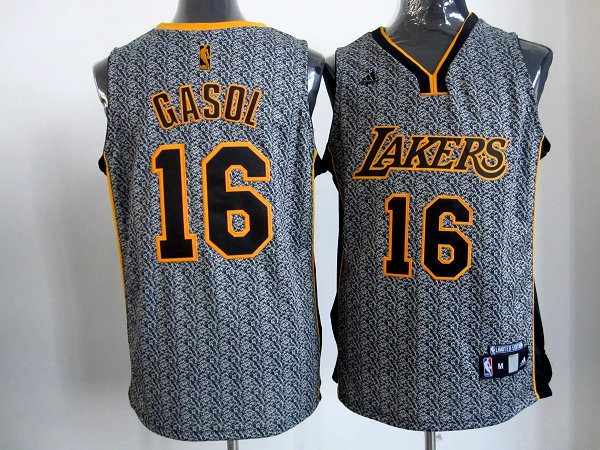 NBA Los Angeles Lakers 16 Gasol 2013 new Static Fashion Swingman Jersey Limited Edition