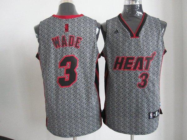 NBA Miami Heat 3 Dwyane Wade 2013 new Static Fashion Swingman Jersey Limited Edition