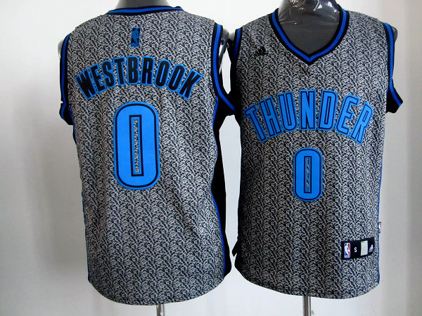 NBA Oklahoma City Thunder 0 Russell Westbrook 2013 new Static Fashion Swingman Jersey Limited Edition