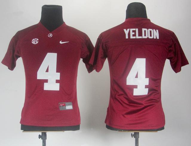 NCAA Women Nike Alabama Crimson Tide 4 T.J Yeldon Crimson SEC Patch College Football Jersey