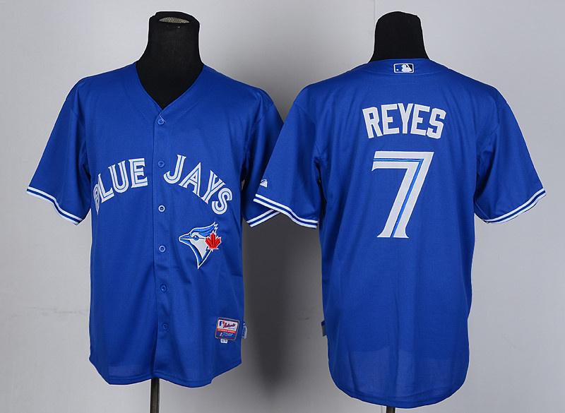 MLB Toronto Blue Jays 7 Reyes blue jersyes