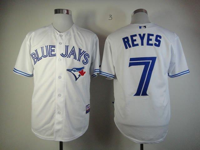 MLB Toronto Blue Jays 7 Reyes white jerseys