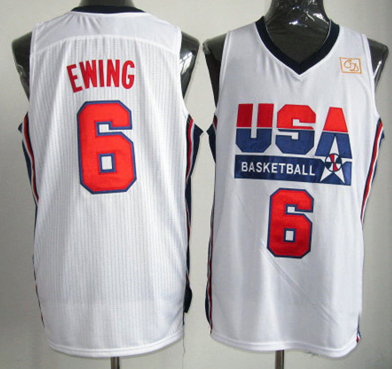 NBA 6 Patrick Ewing 1992 USA Olympic Dream Team white jersey