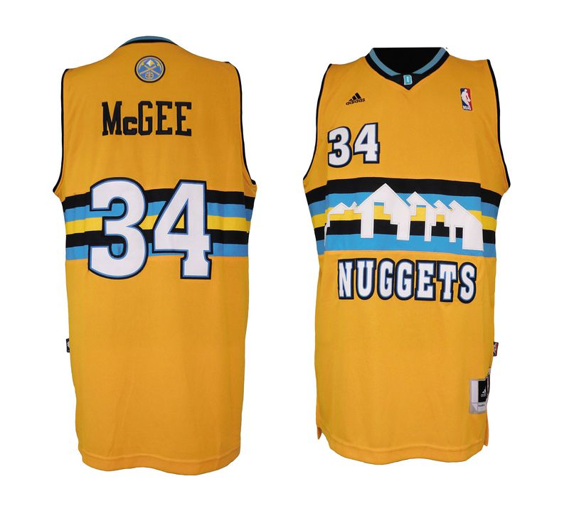 NBA Denver Nuggets 34 JaVale McGee Revolution 30 Swingman Alternate Jersey