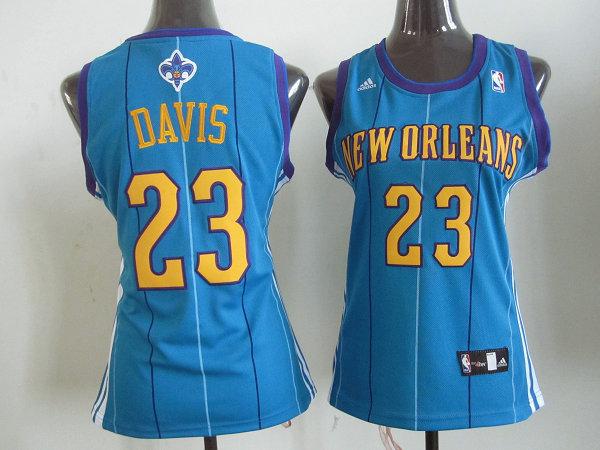NBA Womens New Orleans Hornets 23 Anthony Davis blue jersey