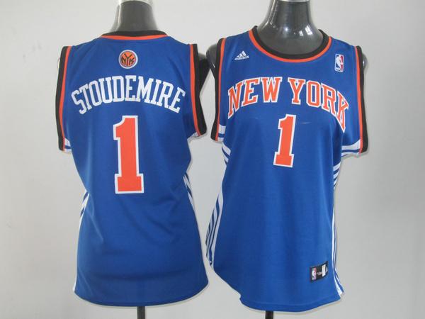 NBA Womens New York Knicks 1 Amare Stoudemire blue jersey