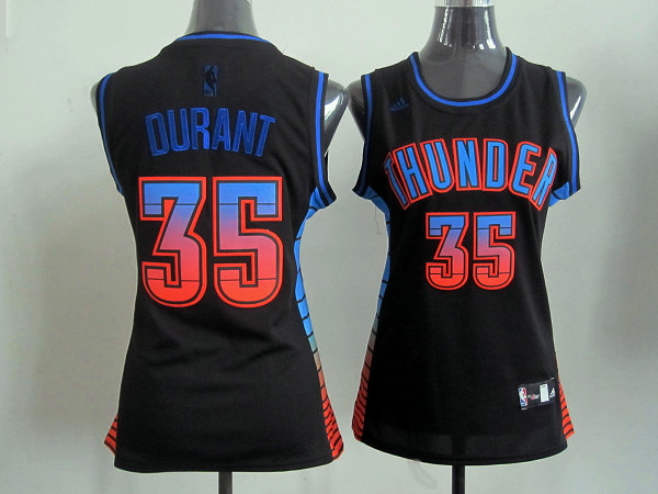 NBA Womens Oklahoma City Thunder 35 Kevin Durant black jersey