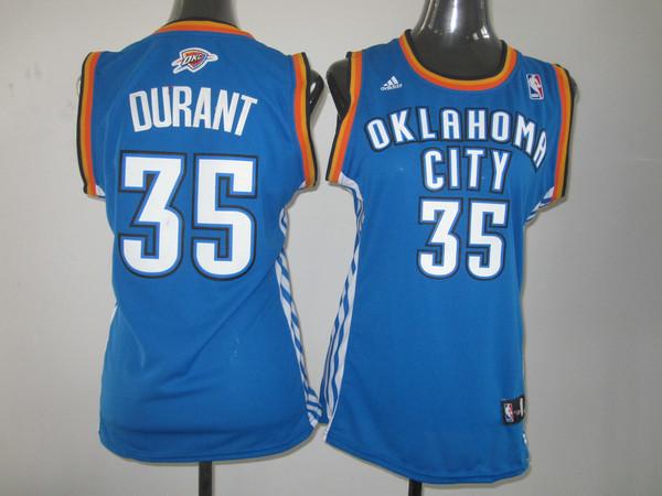 NBA Womens Oklahoma City Thunder 35 Kevin Durant blue jersey