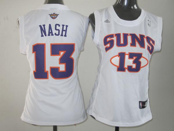 NBA Womens Phoenix Suns 13 Steve Nash white jersey