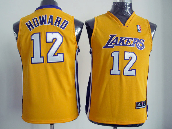 NBA Youth Los Angeles Lakers 12 Dwight Howard yellow jersey
