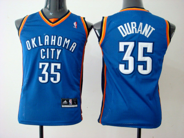 NBA Youth Oklahoma City Thunder 35 Kevin Durant blue jersey