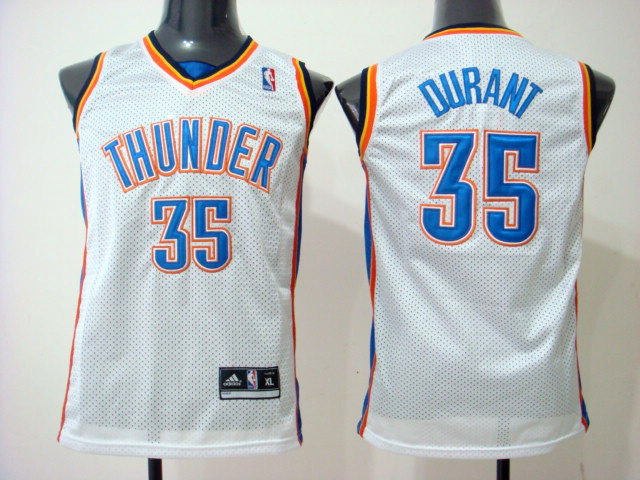 NBA Youth Oklahoma City Thunder 35 Kevin Durant white jersey