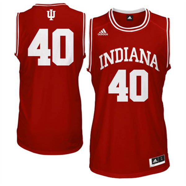 NBA NCAA Adidas Indiana Hoosiers Cody Zeller 40 Red Basketball Jerseys