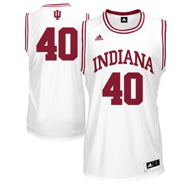 NBA NCAA Adidas Indiana Hoosiers Cody Zeller 40 White Basketball Jerseys