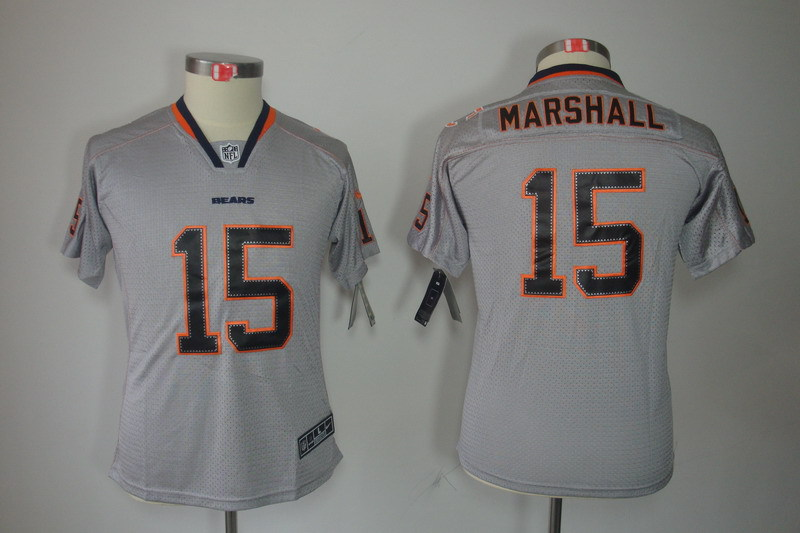 Chicago Bears 15 Marshall Youth Nike Lights Out Grey Elite Jersey