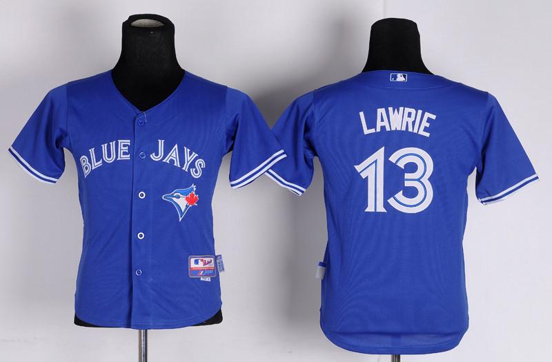 Youth MLB Jerseys Toronto Blue Jays 13 Lawrie blue