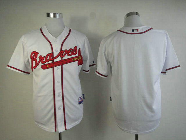 MLB Atlanta Braves Blank White Jersey