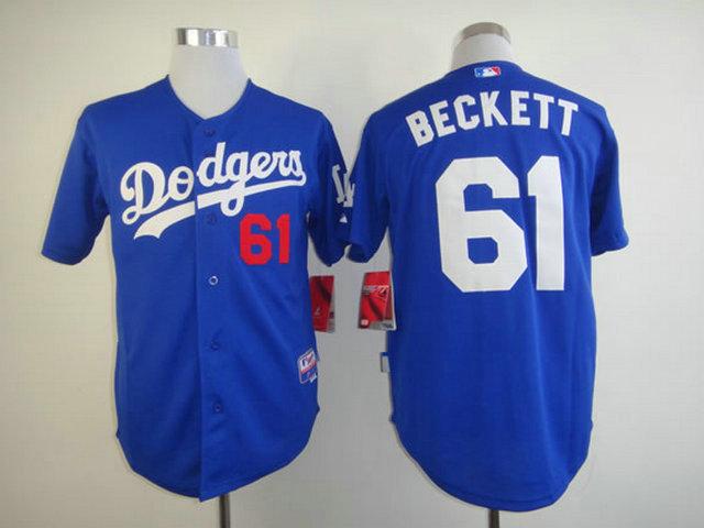 MLB Los Angeles Dodgers 61 Josh Beckett Blue Jersey