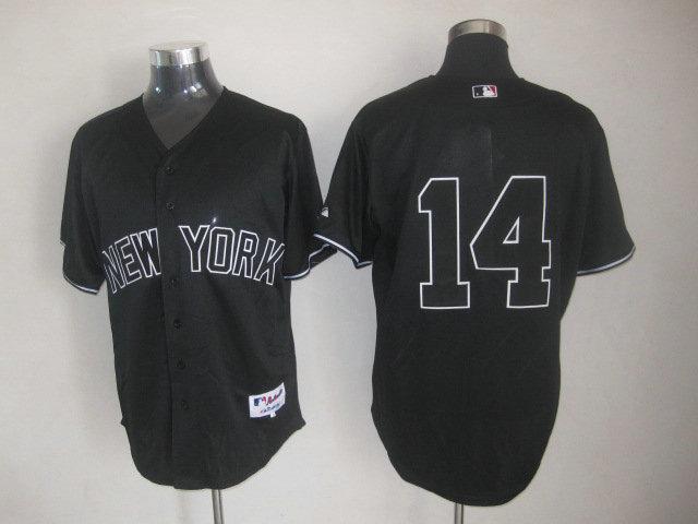 MLB New York Yankees 14 Curtis Granderson Black Cool Base