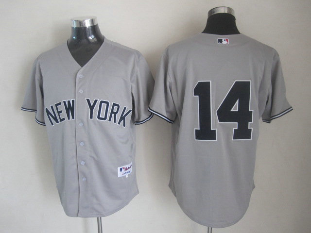 MLB New York Yankees 14 Curtis Granderson Gray Grey Cool Base