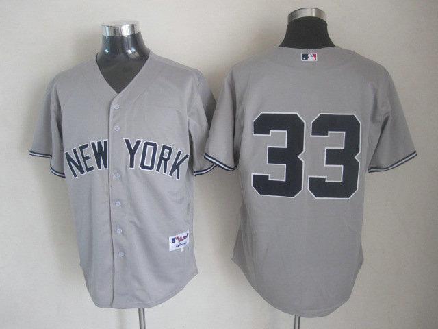 MLB New York Yankees 33 Nick Swisher Grey Gray Cool Base
