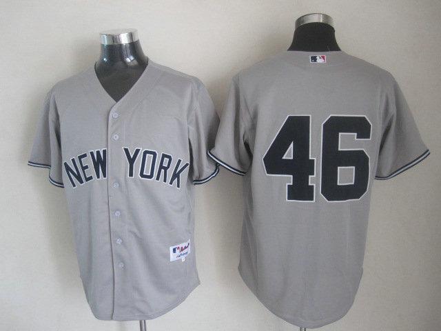 MLB New York Yankees 46 Andy Pettitte Gray Grey Cool Base