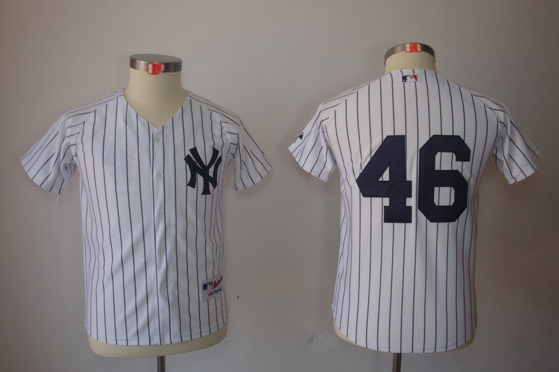 MLB Youth New York Yankees 46 Andy Pettitte White Cool Base Jersey