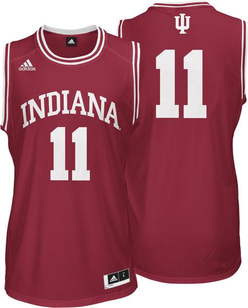 NBA NCAA Adidas Indiana Hoosiers 11 Isiah Thomas Red Basketball Jerseys