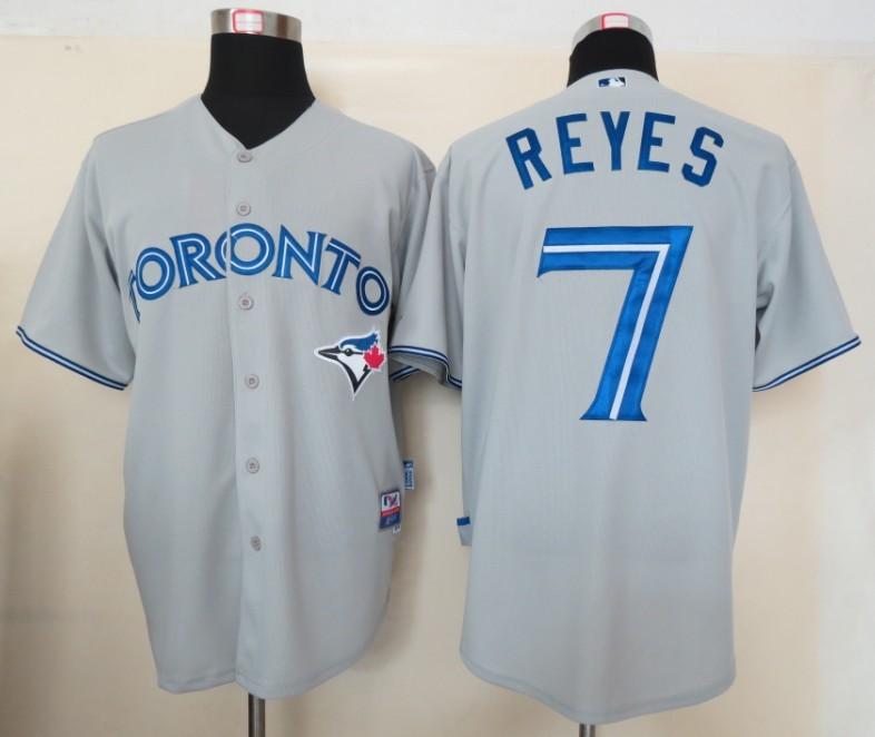 MLB Jerseys Toronto Blue Jays 7 Reyes Grey
