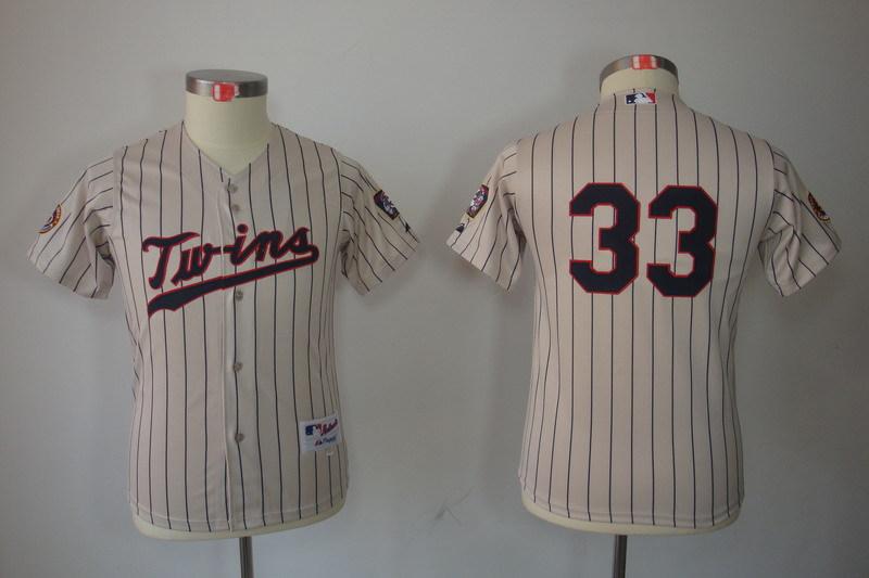 Youth MLB Jerseys Minnesota Twins 33 Justin Morneau Cream