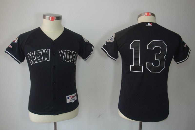 Youth MLB Jerseys New York Yankees 13 Alex Rodriguez Black