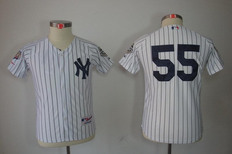 Youth MLB Jerseys New York Yankees 55 Hideki Matsui White