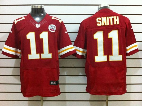 Kansas City Chiefs 11 Smith Red Nike Elite Jerseys