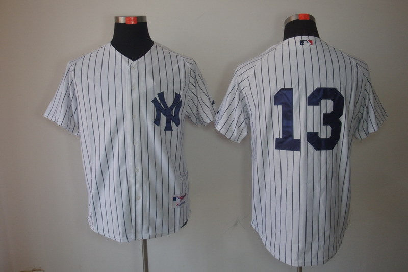 MLB Jerseys New York Yankees 13 Alex Rodriguez white
