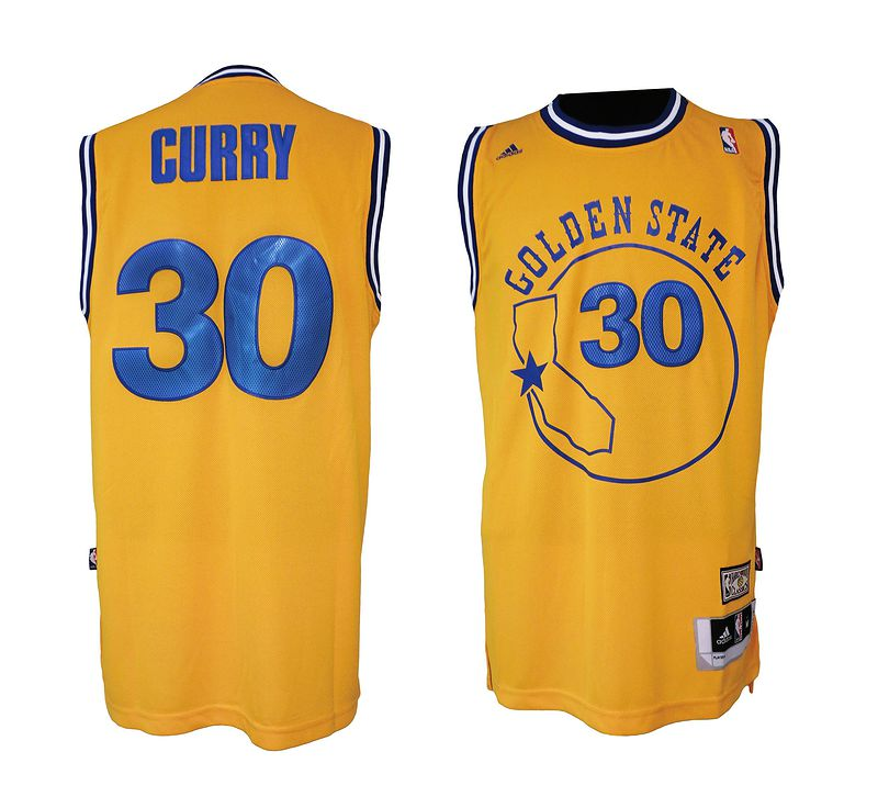 NBA Golden State Warriors 1974-75 Gold 30 Swingman Throwback Jersey