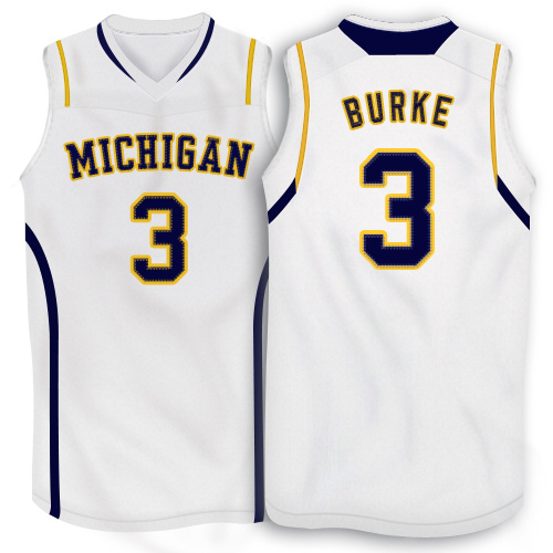 NBA NCAA Adidas Michigan Wolverines 3 Trey Burke White 10 Patch Basketball Jerseys