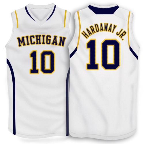 NBA NCAA Adidas Michigan Wolverines 10 Tim Hardaway Jr.White Basketball Jerseys