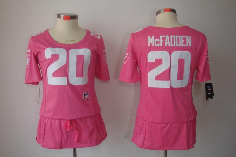 Womens Oakland Raiders 20 Darren McFadden Pink Nike Breast Cancer Awareness Jerseys