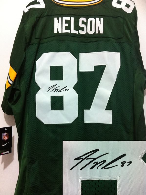 Green Bay Packers 87 Nelson Green Nike Elite With player signed Jersey