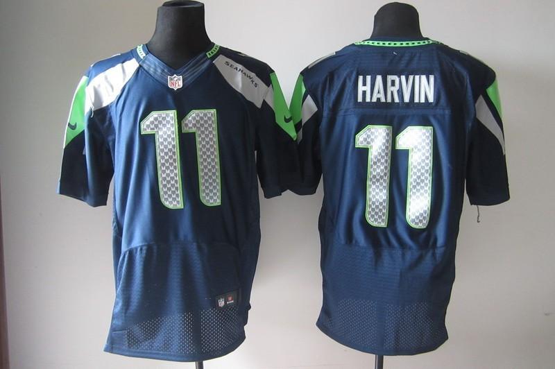 Seattle Seahawks 11 Percy Harvin Blue Elite Nike Jerseys