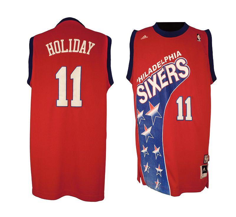NBA Philadelphia 76ers 11 Jrue Holiday ABA Hardwood Classic Fashion Swingman Jersey