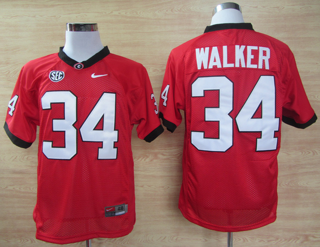 NCAA Nike Georgia Bulldogs 34 Herschel Walker SEC Patch College Football Jersey