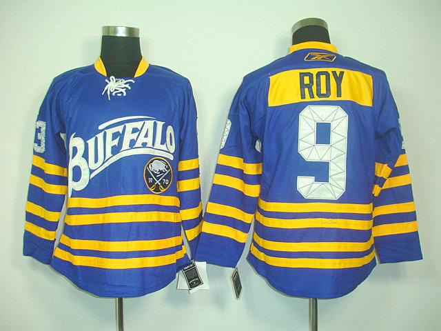 NHL Jerseys Buffalo Sabres 9 Derek Roy Light Blue Third 40TH