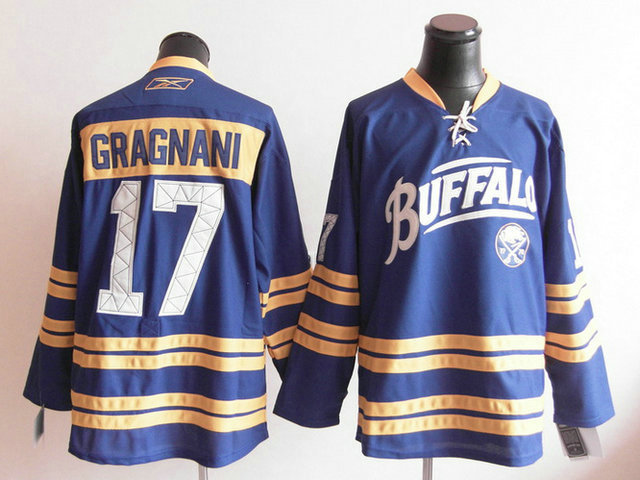 NHL Jerseys Buffalo Sabres 17 Marc Ander Gragnani Light Blue Third 40TH